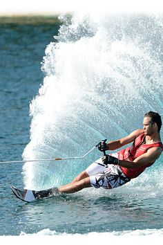 Slalom: to zigzag between obstacles; can refer to skiing, mountain biking, kayaking, skateboarding, windsurfing