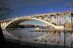 visiondivision activates tranebergsbron bridge in stockholm - designboom | architecture & design magazine