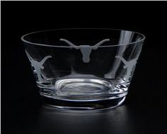 Longhorn Etched Candy Dish/Bowl