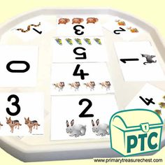 Tuff Tray Resources - Number Activities for Tuff Trays - Primary Treasure Chest Numeracy Activities, Number Activities, Teaching Activities, Teaching Resources, Teaching Ideas, Ourselves Topic, Tuff Tray, Sand Play, Messy Play