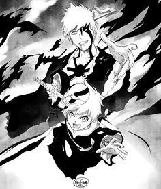 Aww it's a mini Ichigo. Well his son but who cares.