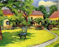 August Macke - Our Garden in Tegernsee
