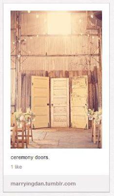 Wedding ceremony backdrop?