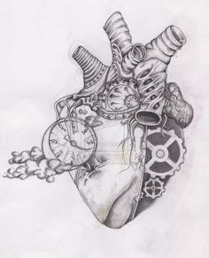 human heart drawing - Google Search                                                                                                                                                                                 More