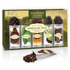 Tea Forte WORLD OF TEAS Sing Steeps Loose Leaf Tea Sampler, 15 Single Serve Pouches - Green Tea, Herbal Tea, Black Tea Tea Forte http://www.amazon.com/dp/B008DVCAU6/ref=cm_sw_r_pi_dp_Jj2Dwb1X40YVC