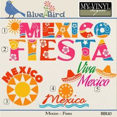 DIGITAL DOWNLOAD ... Mexico Fiesta Vectors in AI, EPS, GSD, & SVG formats @ My Vinyl Designer #myvinyldesigner #bluebird