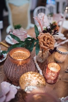 Candles and Blooms from a Floral High Tea Baby Shower on Kara's Party Ideas | KarasPartyIdeas.com (27)