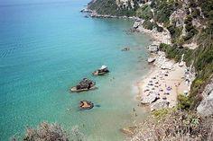 Corfu beach www.captaintheocorfu.net Cruises Services