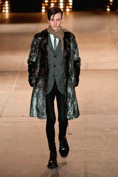 Saint Laurent Fall/Winter 2014 | Paris Fashion Week #gif animado