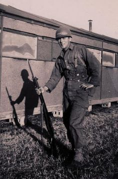 Jesse Oxendine with the U.S. Army's 82nd Airborne Division during World War II - Croatan/Lumbee - circa 1944