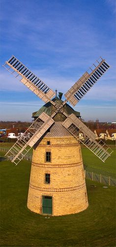 Drone photography windmill Leipzig Germany aerial photo