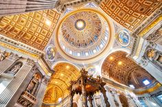 The amazing golden dome of the Basilica of Saint Peter. - Vatican City, Italy - Photo from #treyratcliff Trey Ratcliff at http://www.StuckInCustoms.com