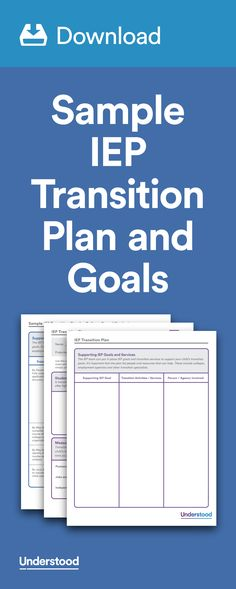 IEP Roadmap How to Seek Out Special Education Services for Your - sample transition plan