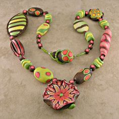 Polymer Clay Whinsical Organic by Sharp Art by Dawna, via Flickr