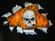 Burning Skull Ikea Tisch