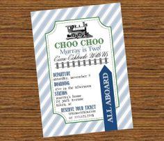 Choo Choo Train Birthday Party Invitation  by SevenStoryMountain, $12.00