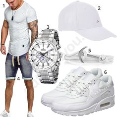 Weißes Sommeroutfit für Männer mit Cap und Nike's #shirt #shorts #nike #tommyhilfiger #outfit #style #herrenmode #männermode #fashion #menswear #herren #männer #mode #menstyle #mensfashion #menswear #inspiration #cloth #ootd #herrenoutfit #männeroutfit