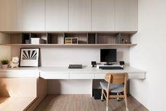 Home Office Furniture Desk Floating Shelves 26 Ideas For 2019 Home Office Design, Home Office Decor, Office Style, Home Office Furniture Desk, Study Room Design, Study Space, Room Interior, Interior Design, Apartment Office