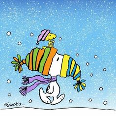 Snoopy & Woodstock in Winter ~ Charles Schulz Meu Amigo Charlie Brown, Charlie Brown Und Snoopy, Snoopy Images, Snoopy Pictures, Peanuts Christmas, Charlie Brown Christmas, Merry Christmas, Christmas Time, Peanuts Cartoon