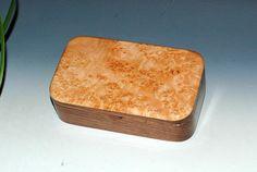 Wood Box-Treasure Box- Walnut and Maple Burl - Handmade Wood Box - Keepsake Box Gift Box Wood Jewelry Box Wooden BoxesWooden Jewelry Box by BurlWoodBox