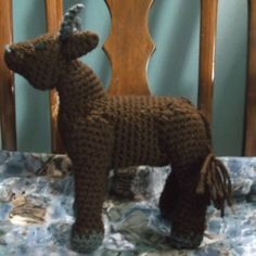 Brown bull amigurumi crochet bull ready to ship big by SalemsShop