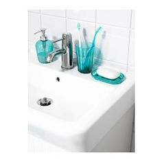 IKEA - SVARTSJÖN, Soap dispenser, Easy to refill as the dispenser has a wide opening.Can be combined with SVARTSJÖN cup and soap dish. Teal Bathroom Decor, Bathroom Accessories, Bathroom Ideas, Behind Door Storage, Small Basement Bathroom, Master Bathroom, Ikea Shopping, Cabinet Paint Colors, Shopping