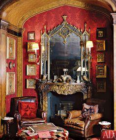 """Готические гостиные появились в Англии и распространились по всей Европе, кроме России — здесь их считали """"масонскими"""" и не слишком любили."""