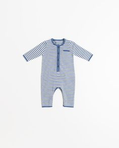 STRIPED KNIT ROMPER SUIT, Zara