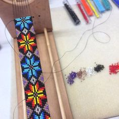 Pulsera de telar de abalorios elementos cuentas por PuebloAndCo