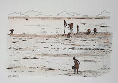 AS MARISQUEIRAS - I (bico de pena, lápis de cor aquarelável s/ papel C à grain 224g/cm², tamanho: A4)