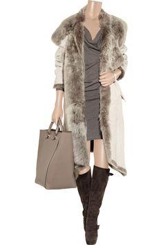Donna KaranReversible shearling coatoutfit