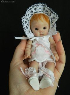 Art doll by by Christineooaks Miniature Art Dolls
