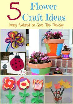 5 Flower Craft Ideas