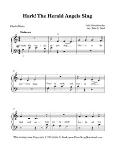 Hark the Herald Angels Sing, free PDF Christmas sheet music.