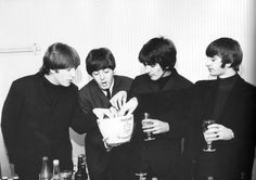 The Beatles (with a bucket of ice)