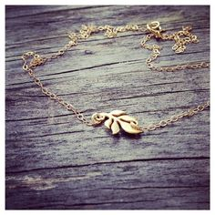 Dainty 24K Gold Vermeil Leaf Necklace  Everyday by cocowagner, $24.90