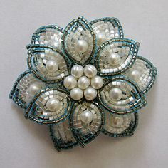 Beaded pearl flower