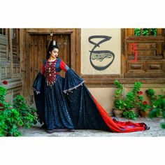 Afghan Clothes, Afghan Dresses, Henna Night, Beautiful Outfits, Most Beautiful, Sari, Velvet, Celebrities, Color