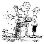 Cartoon by Peter Evans,   --  --