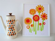 Jane Foster Blog: Jane Foster's new Flower Power screen prints