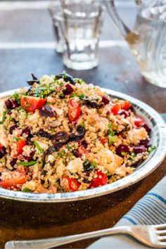 Rosemary Shrager's Mild Spicy Quinoa Salad with California Prunes and Feta