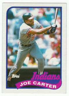 Joe Carter # 420 - 1989 Topps Baseball