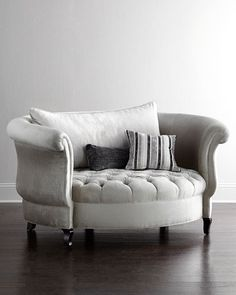 H729P Haute House Harlow Silver Cuddle Chair