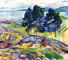 Pine Trees by the Sea Edvard Munch - 1911-1913