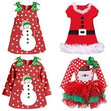 New Frocks Designs Baby Girl Dress Christmas Costumes Infant Princess Polka Dot Print Red Tutu Dresses Xmas Toddler Girl Clothes(China (Mainland))