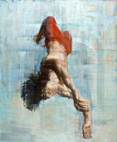 "Saatchi Online Artist Deenesh Ghyczy; Painting, ""Dave"" #art"