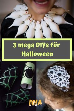 3 last minute ideas for the Halloween costume- 3 Last Minute Ideen für das Halloween-Kostüm Scary beautiful DIY ideas for crafting with children … - Costume Halloween, Diy Halloween, Adornos Halloween, Halloween Snacks, Halloween Disfraces, Halloween 2019, Halloween Night, Diy Costumes, Happy Halloween