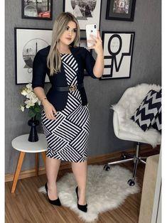 Modest Dresses, Casual Dresses, Fashion Dresses, Simple Dresses, Work Dresses For Women, Clothes For Women, Curvy Fashion, Plus Size Fashion, Sunday Outfits