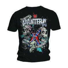 Pantera Men's Tee: Texas Skull Wholesale Ref:PANTS03MB