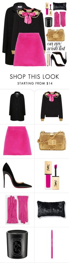"""Wish List"" by mylkbar ❤ liked on Polyvore featuring Maison Margiela, Gucci, Helmut Lang, Tom Ford, Christian Louboutin, Yves Saint Laurent, Frontgate, Sigma, contestentry and polyPresents"